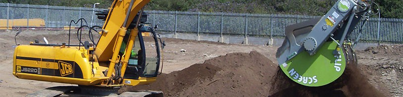 Flipscreen E-80 excavator screening bucket