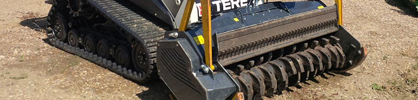 Skidsteer with Seven Mulcher